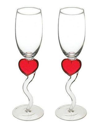 Champagneglas med Hjärta