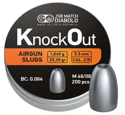 JSB KO Slugs, 5,5mm - 1,645g