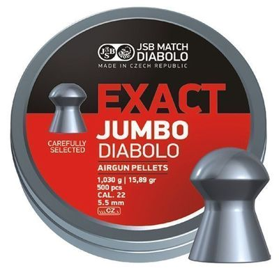 JSB Exact Jumbo, 5,50mm - 1,030g - 500st