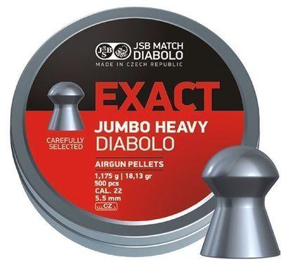 JSB Exact Jumbo Heavy, 5,52mm - 1,175g - 250st