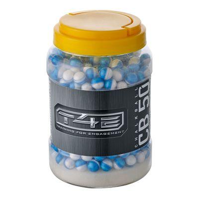 Markerande Kalk kulor, vit .50 till T4E, 2 x 250-pack