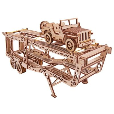 Wood Trick - Car Trailer with Jeep - Tillbehör till Big Rig
