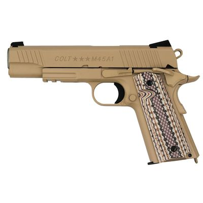 Colt 1911 Rail M45A1 Tan, Blowback Co2 6mm
