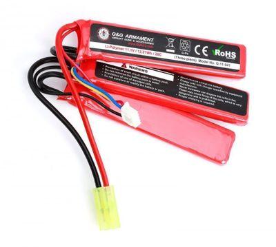 G&G Batteri LI-PO Sticks 11,1V / 12,21Wh / 20c - 1100mAh (3-delat)