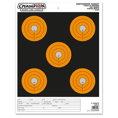 Champion Shotkeeper 5 Bulls Orange- Large 12-pack