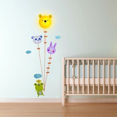 Björnlampa med väggdekor