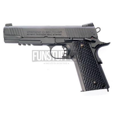Swiss Arms SA 1911 Tactical Rail 4,5mm, Black