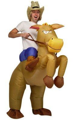 Uppblåsbar Cowboy På Häst