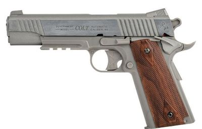 Colt 1911 Rail Stainless, Metal Slide Co2 6mm