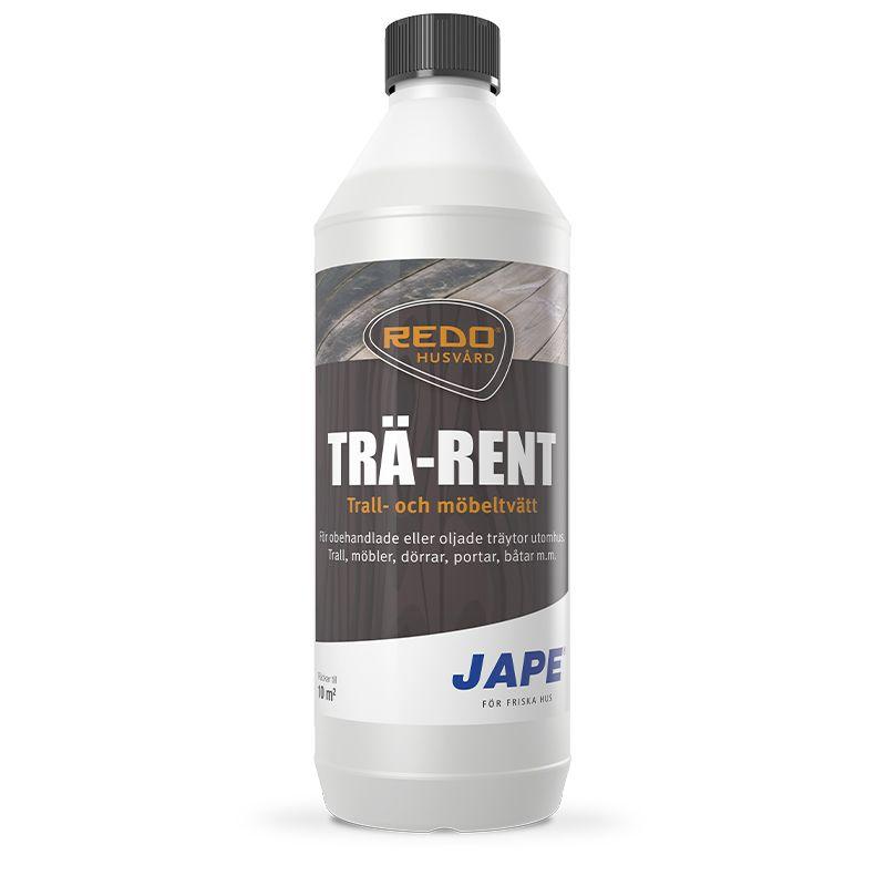 Tvättmedel för rengöring av oljade eller trärena ytor