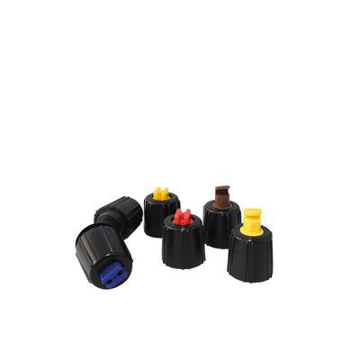 5 Pack flatstrålsmunstycke med spridande riktad stråle.