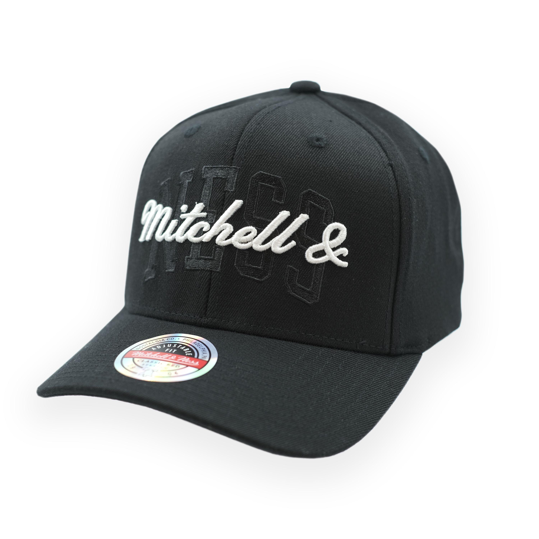 Stacked Logo Snapback Black/White - Mitchell & Ness