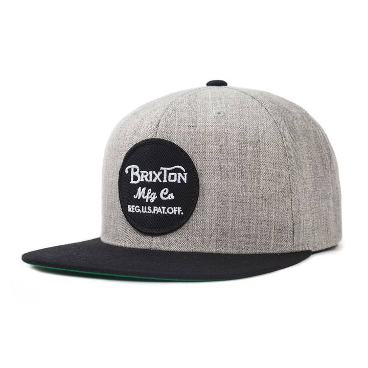 Wheeler Snapback Light Heather Grey/Black Brixton