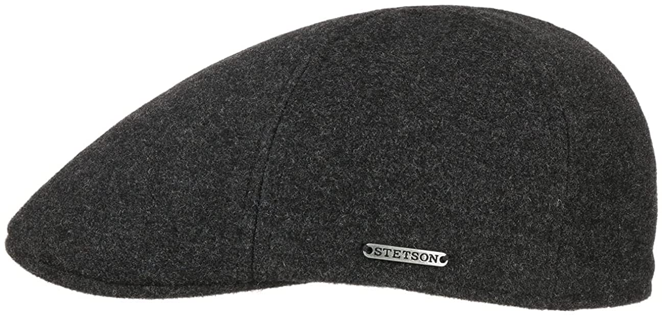 Texas Wool/Cashmere anthracite gatsby cap 6610102 Stetson