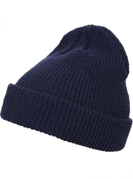 Long Knit Beanie Navy 1545K Yupoong