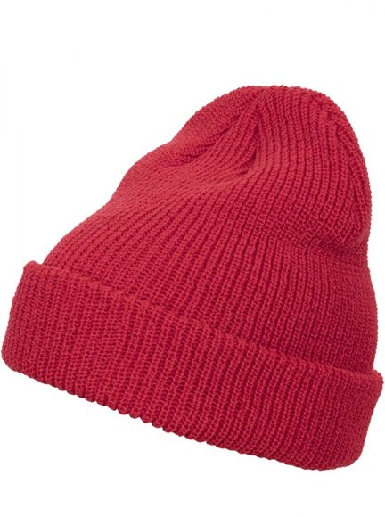 Long knit beanie red 1545K Yupoong