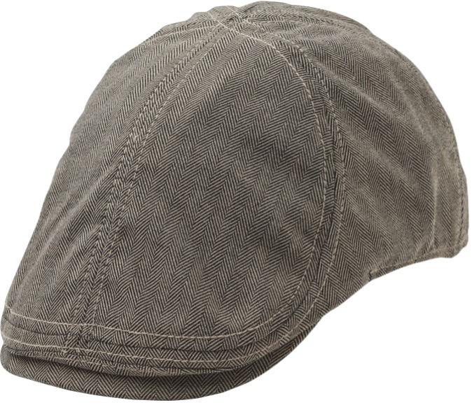 Harvard Duckbill Flat Cap Black/White ST1086 Statewear