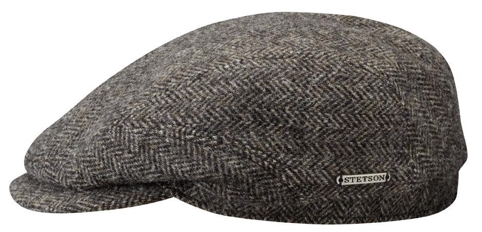 Driver Cap Wool Fishbone Black/Brown Stetson 6380502