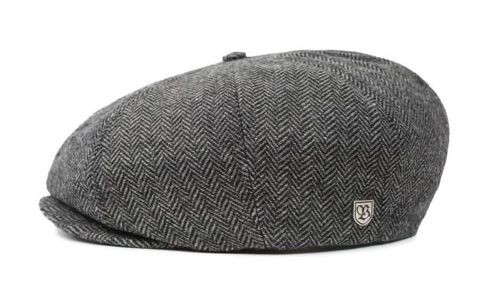 Brood Snap cap Paperboy Grey/Black 10770 Brixton