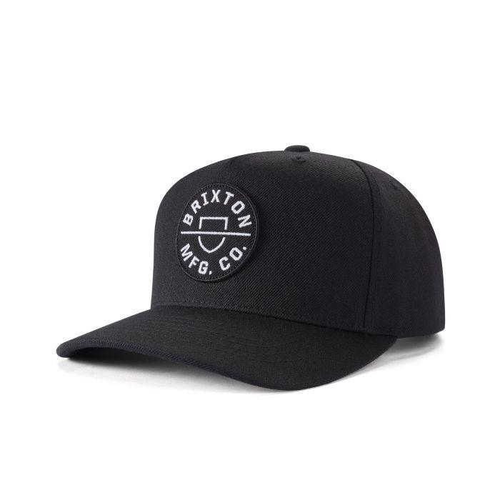 Crest C MP Snapback Cap Black 10650 Brixton