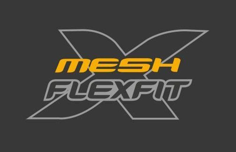 Flexfit mesh caps by Yupoong logo