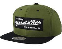 Branded Box Logo Deep Olive Snapback från Mitchell & Ness