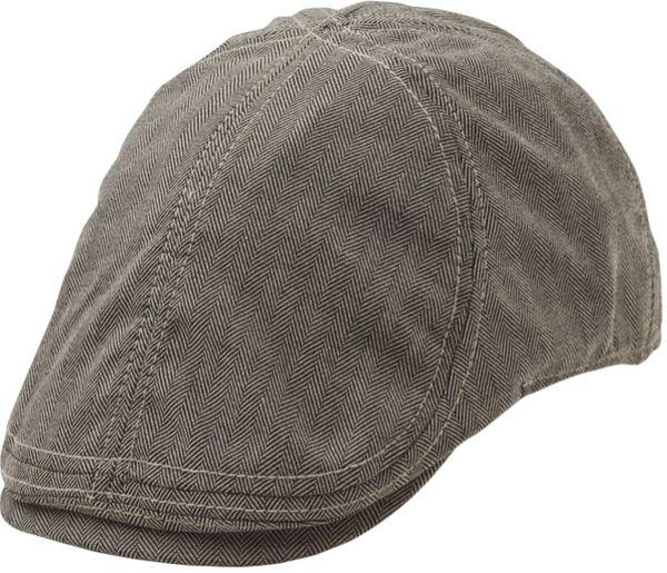 Harvard Duckbill Flat Cap Black/White ST1086 - Statewear