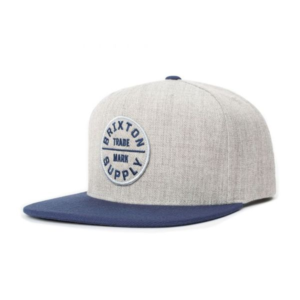 Oath III Snapback Heather Grey/Washed Navy med broderad patch