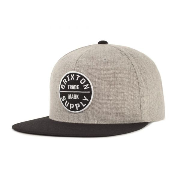 Oath III Snapback Heather Grey/Black med broderad patch logo