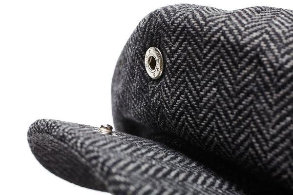 Brood Snap Cap Grey/Black - Brixton