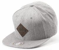 Off spring Light Grey/Brown Snapback med logo i läder