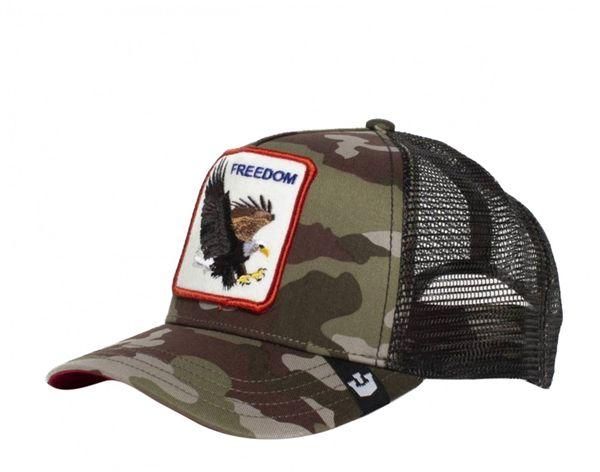 Freedom Eagle Camo/Black Trucker Animal Farm - Goorin Bros