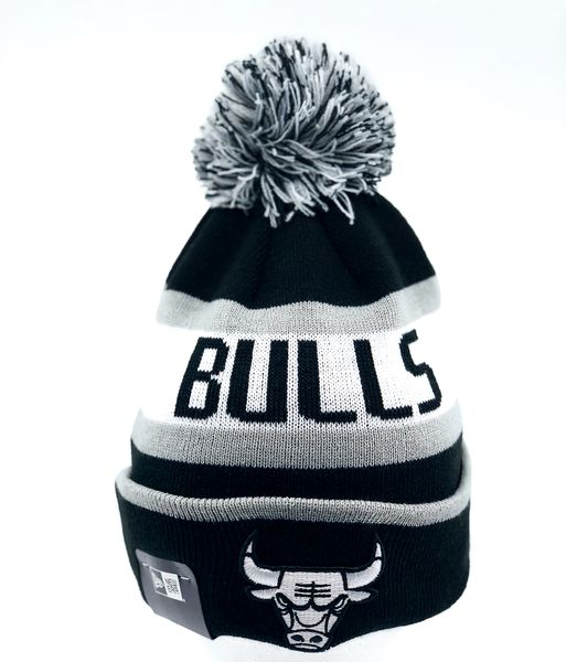 NBA Jake Chicago Bulls Cuff Knit Logo Black - New Era