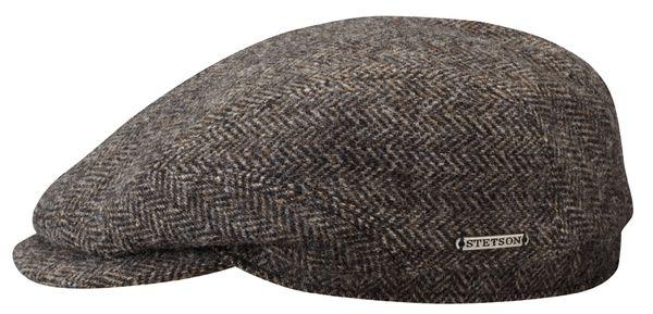 Driver Cap Wool Fishbone Black/Brown - Stetson