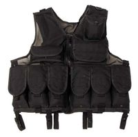 Tactical vest w/net, SVART