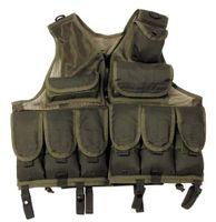 Tactical vest w/net, OLIVGRÖN