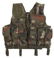 Tactical vest w/net, WOODLAND