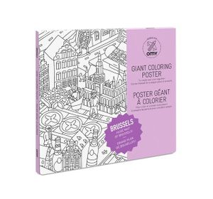 Coloring Poster - Brussel