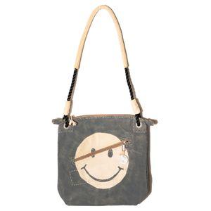 Double Zip Battleship Grey, Smiley Logo Vintage   Sufraco House of Fine Brands